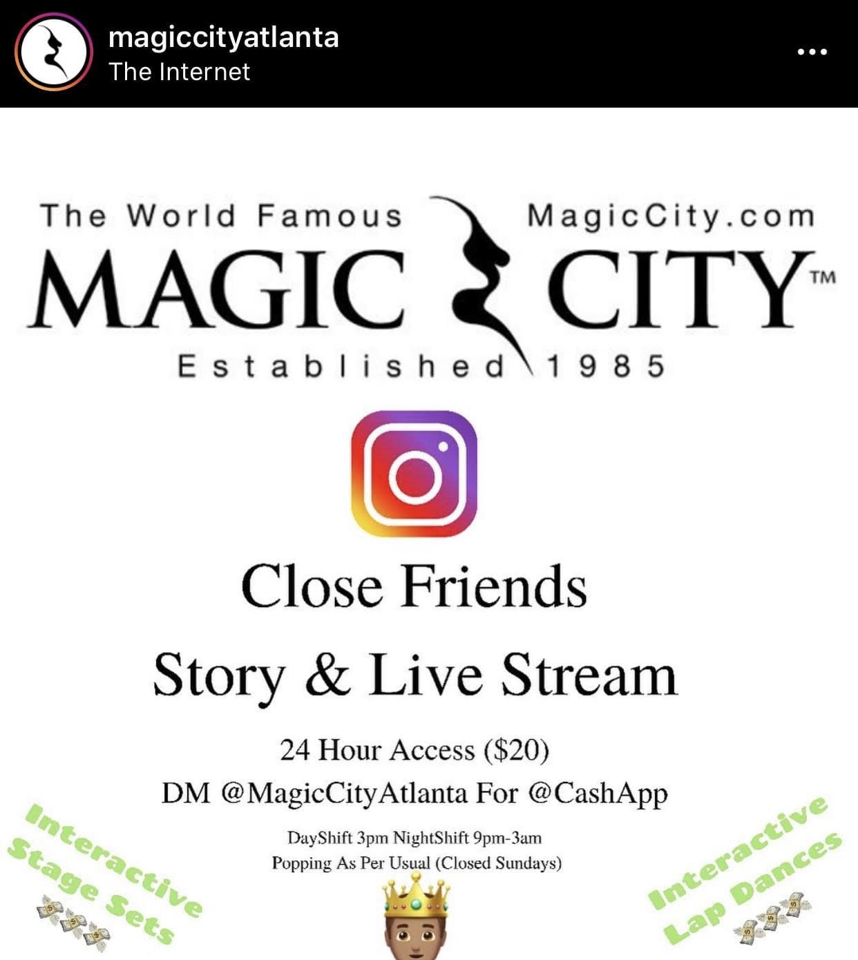 Magic City Offering 'Virtual Lap Dances'