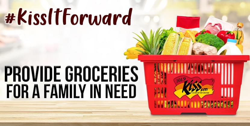 We want to bless a family in need with groceries! #KissItForward