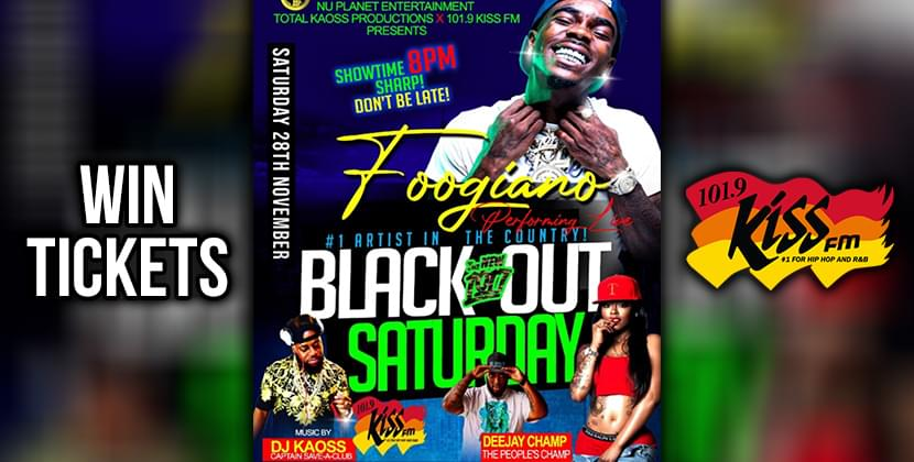 Blackout Saturday With Foogiano November 28th!
