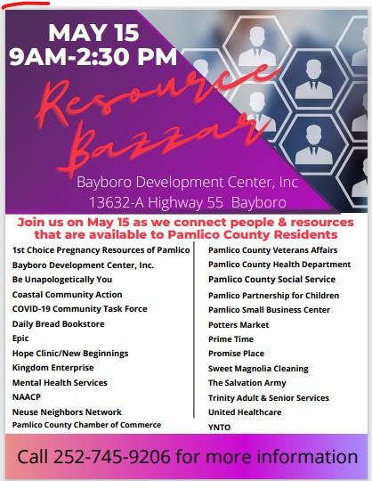 Resource Bazar May 15, 2021 in Bayboro