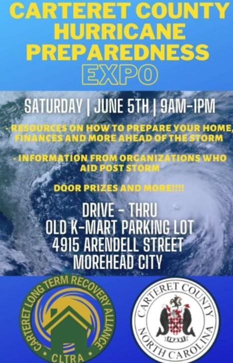 Cateret County Hurricane Preparedness Expo: June 5th