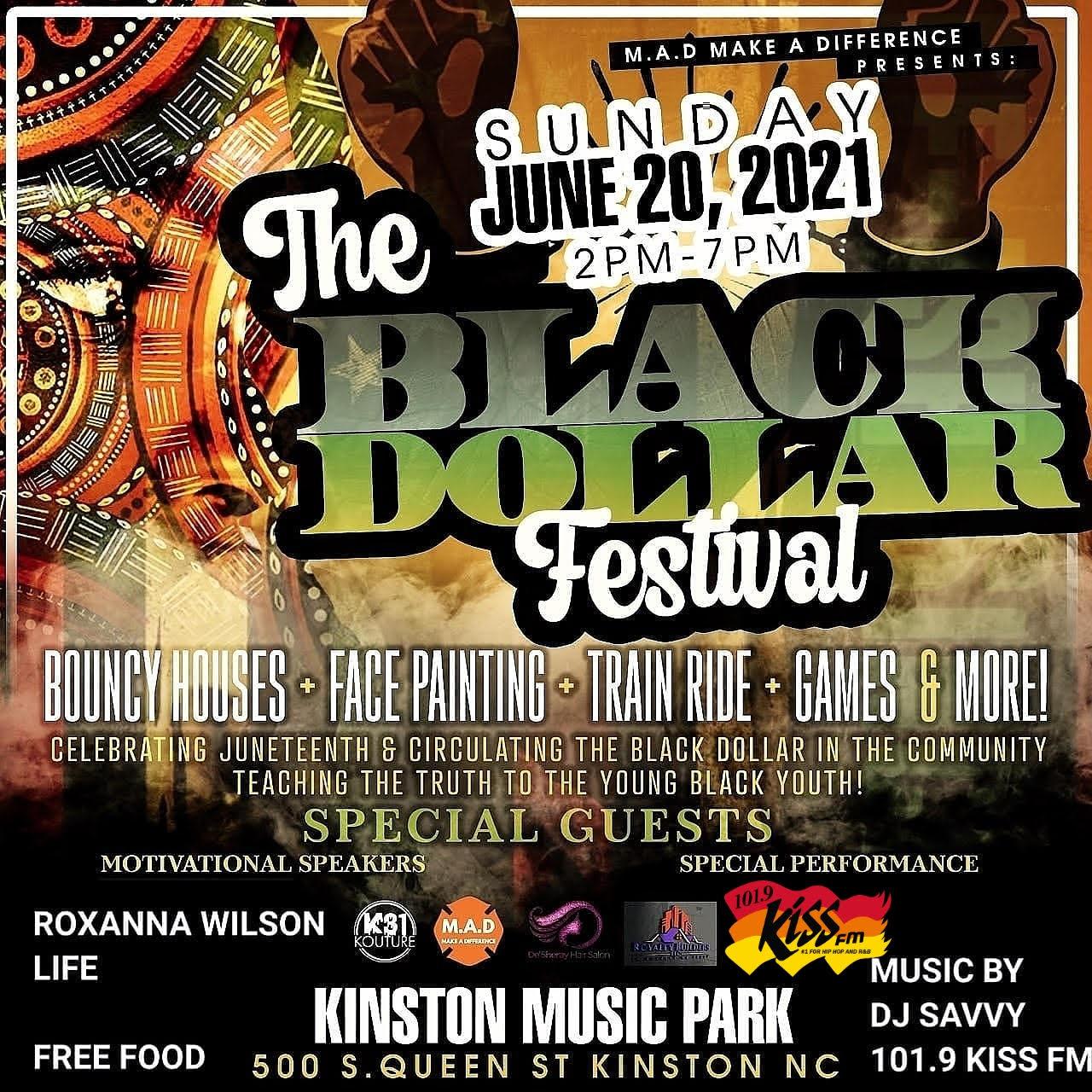 The Black Dollar Festival: Sunday, June 20th – 2pm-7pm