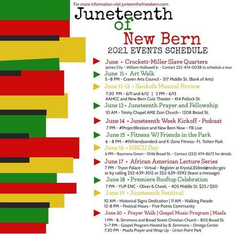 Juneteenth of New Bern 2021 Events Schedule