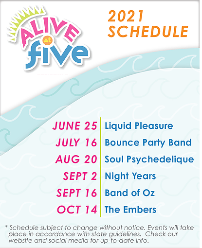 Alive At Five Outdoor Concert Series @ Jaycee Park in Morehead City