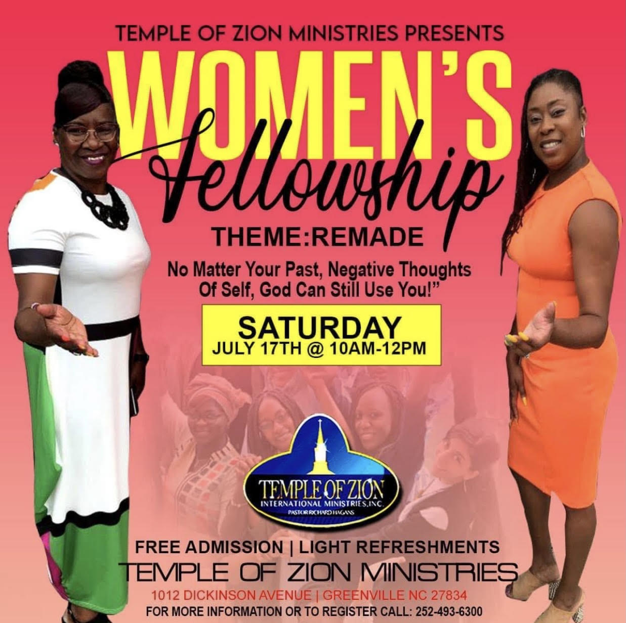 Temple of Zion Ministries in Greenville Presents: Women's Fellowship