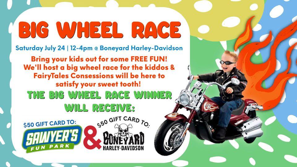 FREE Kids Big Wheel Race @ Boneyard Harly-Davidson, Winterville