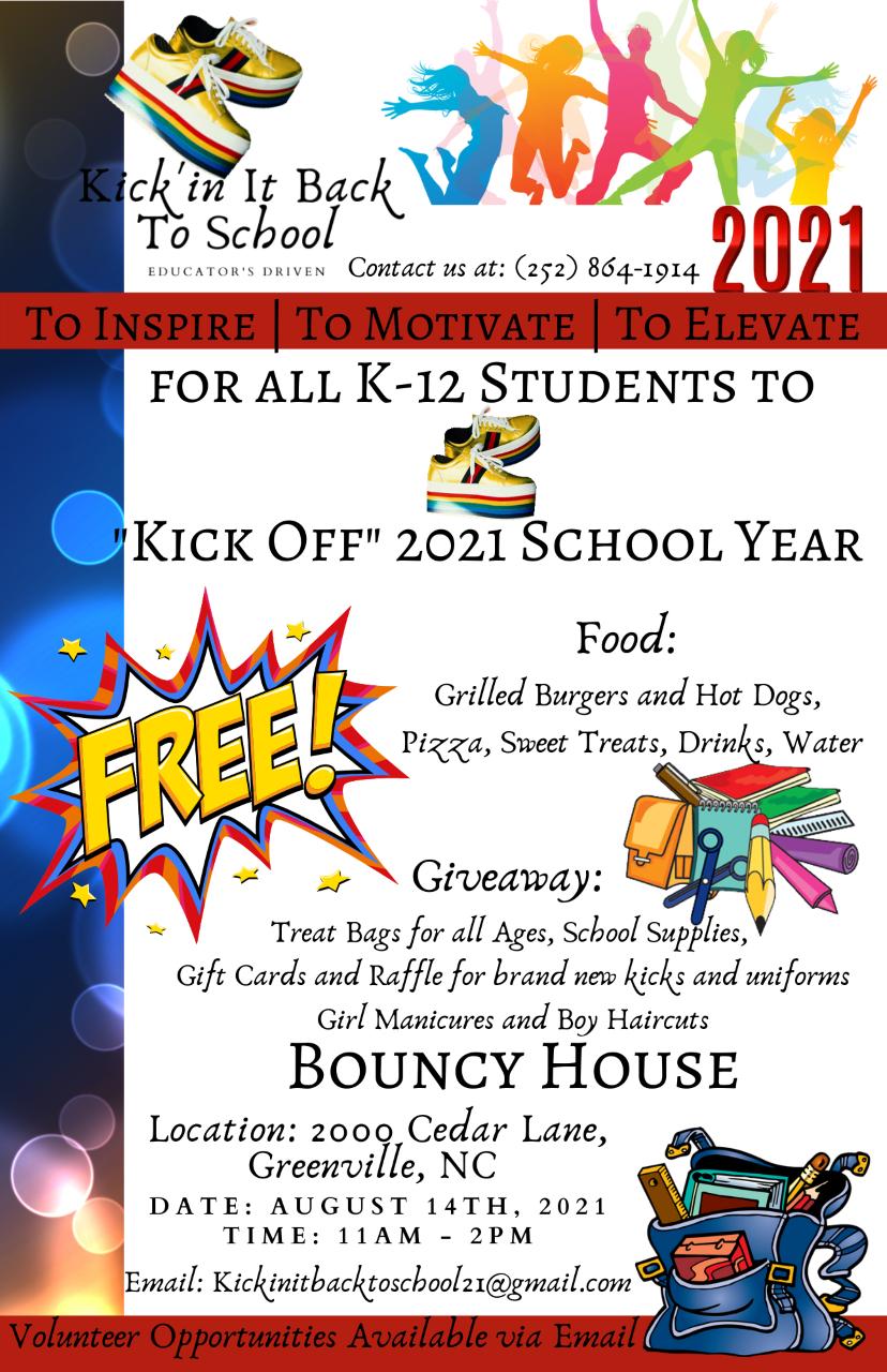 Kickin it Back To School @ Jaycee Park in Greenville, August 14