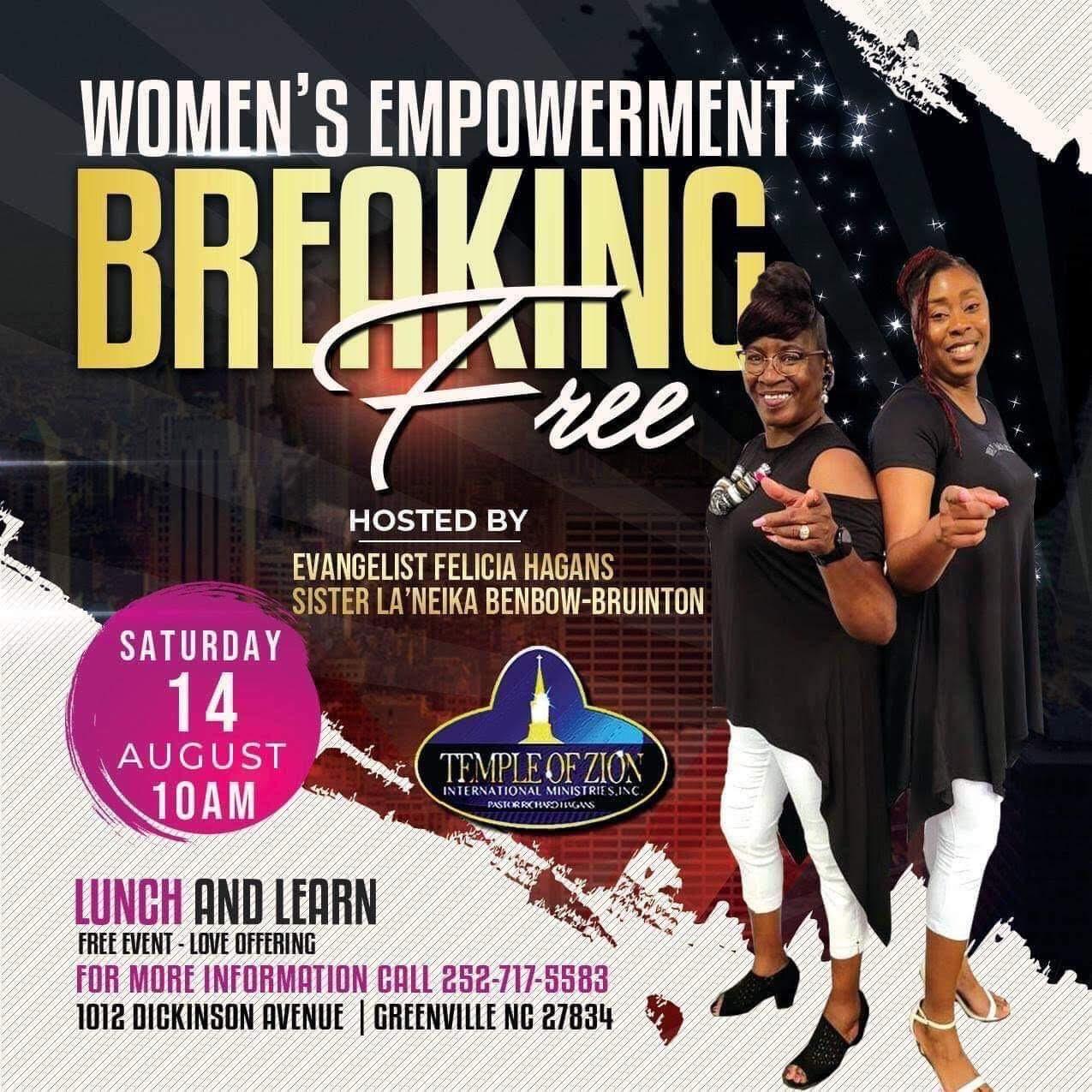 Women's Empowerment Breaking Free, August 14th