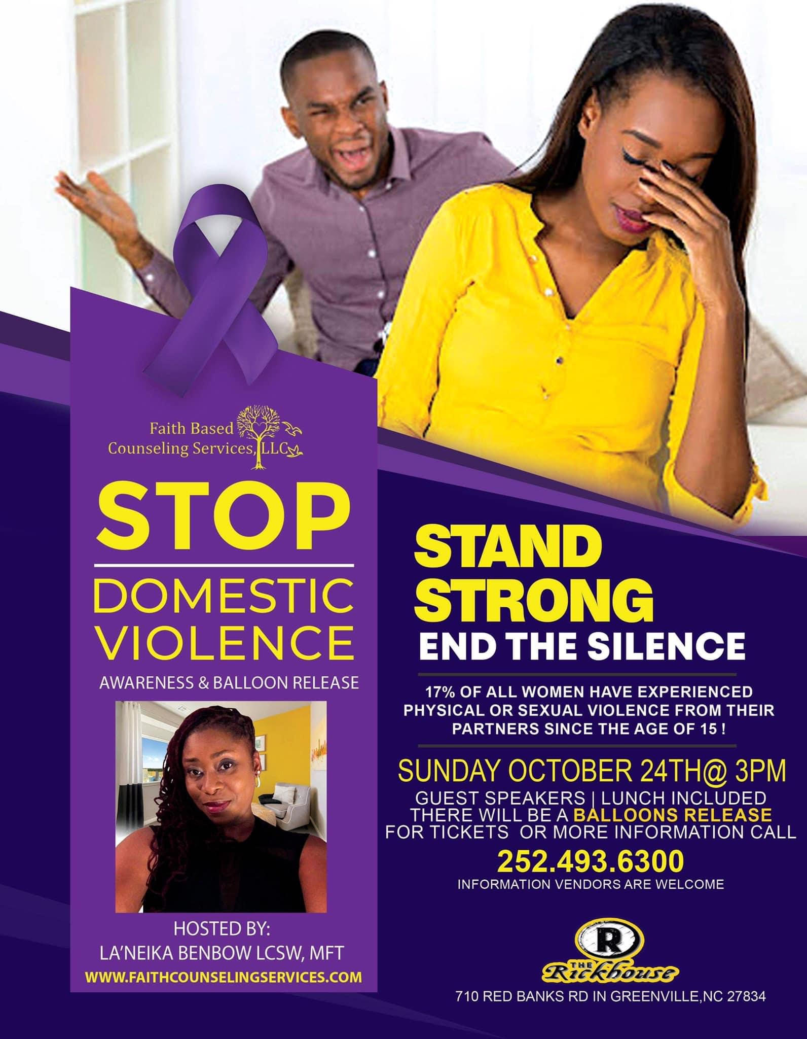 STOP Domestic Violence Awareness & Balloon Release