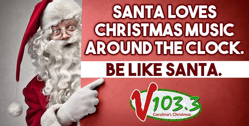 V103.3 Is Carolina's Christmas Music Station!