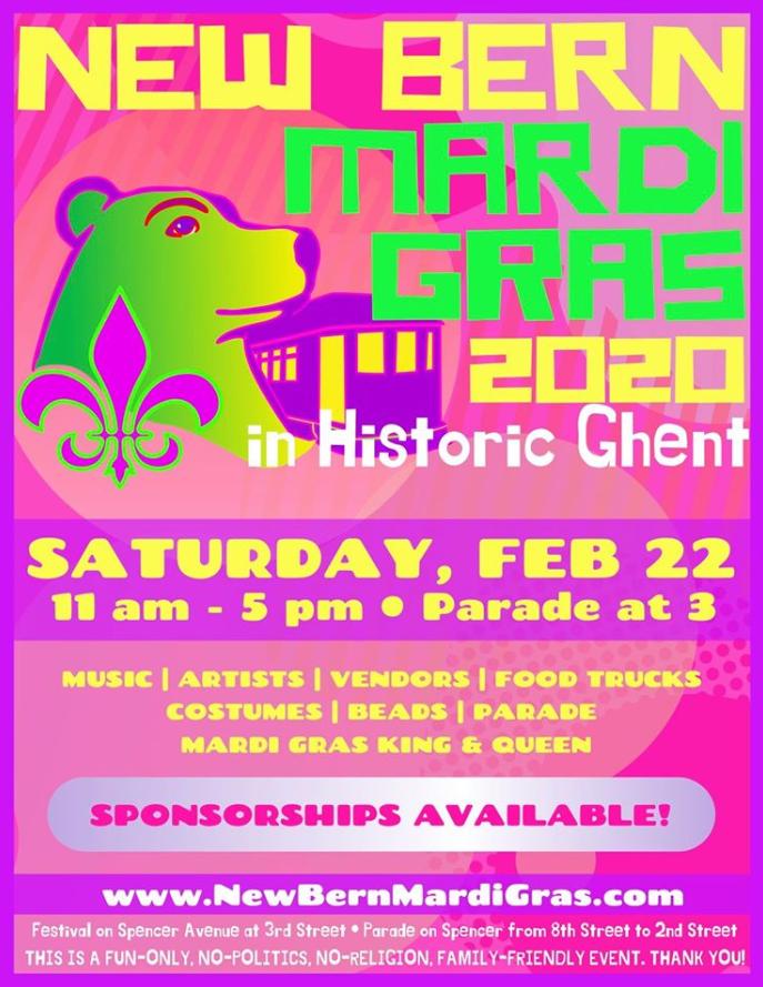 New Bern Mardi Gras 2020