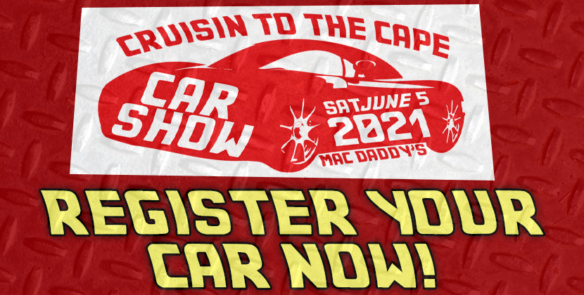 Register Your Car For Cruisin' To The Cape Car Show