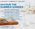 Savour the Summer Soirees @ Carteret Community College
