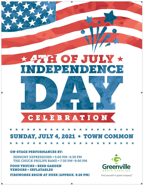 4th Of July Independence Day Celebration @ Town Commons in Greenville