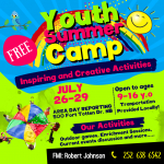 Free Youth Summer Camp in New Bern