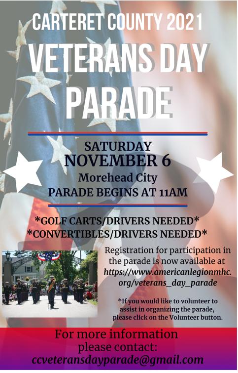 Veteran's Day Parade in Morehead City