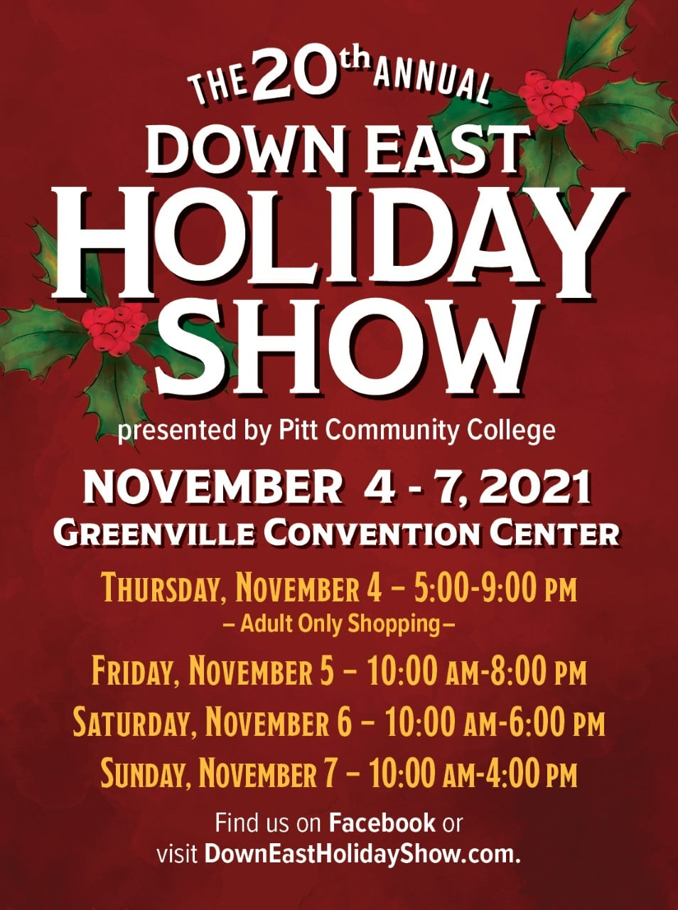 Down East Holiday Show @ Greenville Convention Center