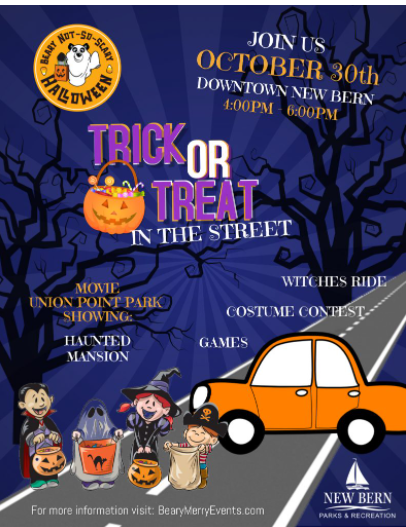 Trick Or Treat In The Street: Downtown New Bern