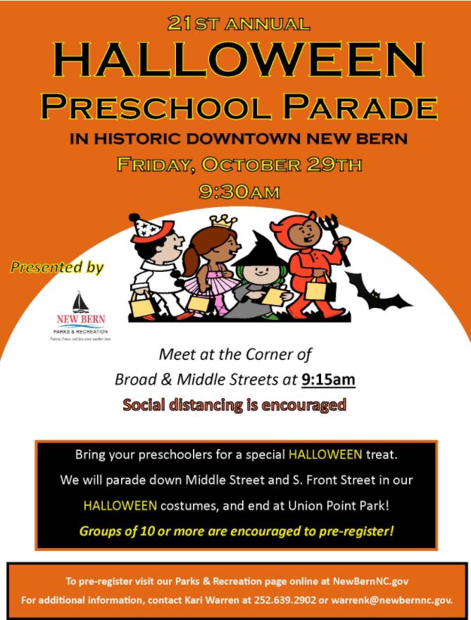 Halloween Pre-School Parade: Downtown New Bern
