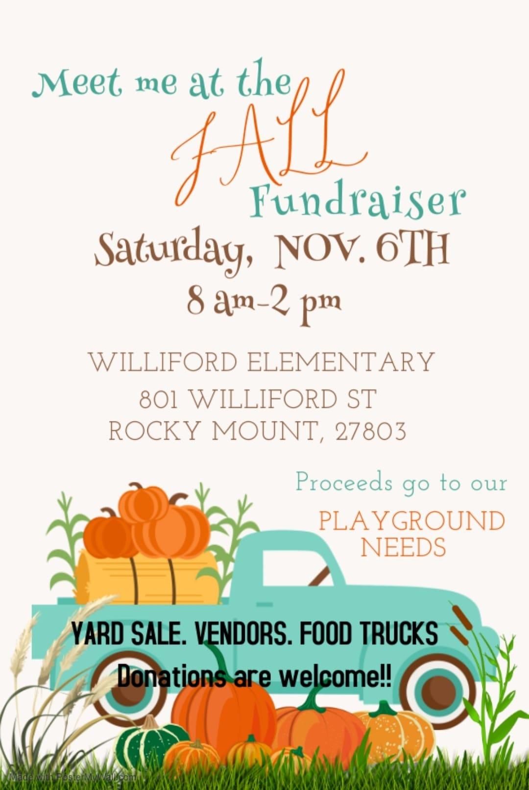 Fall Fundraiser @ Williford Elementary in Rocky Mount
