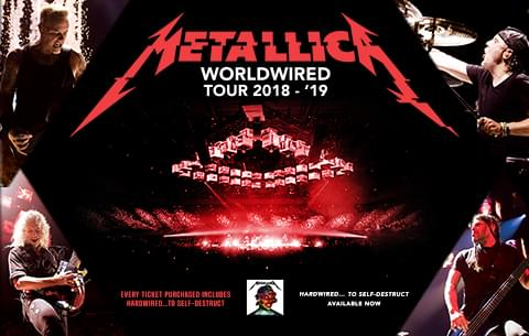 Metallica Announce Second North American Leg of WorldWired Tour – And They're Coming to Raleigh!