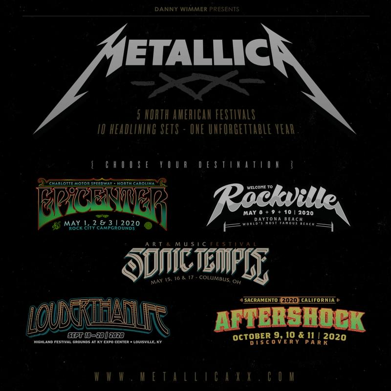Metallica is Coming To NC For Epicenter!