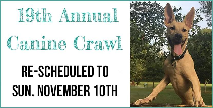 Canine Crawl 2019 – Rescheduled to November 10th