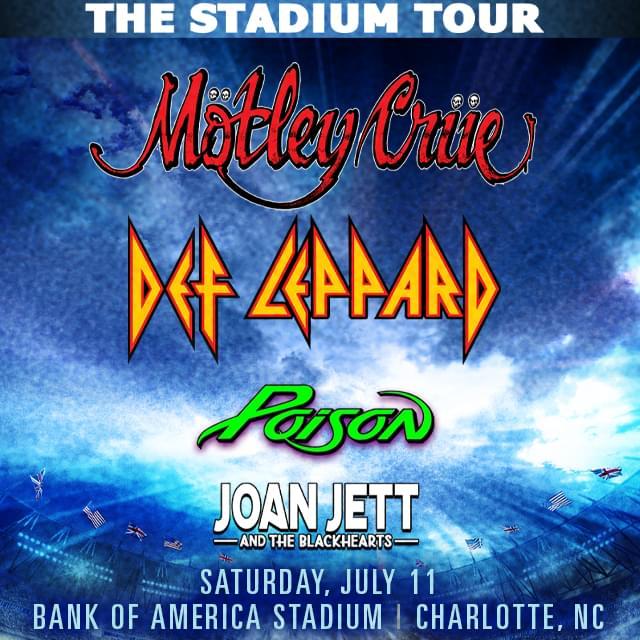 Pre-Sale for Motley Crue, Def Leppard, Poison & Joan Jett