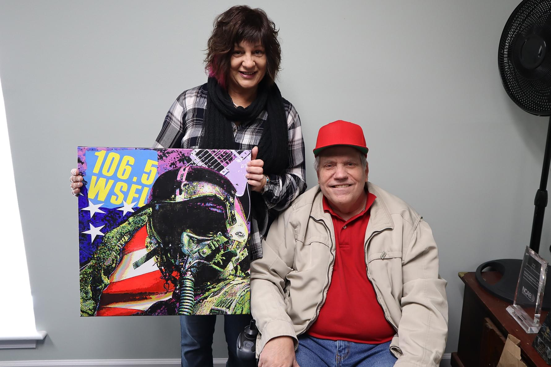 Local Artist Presents WSFL With Custom Painting