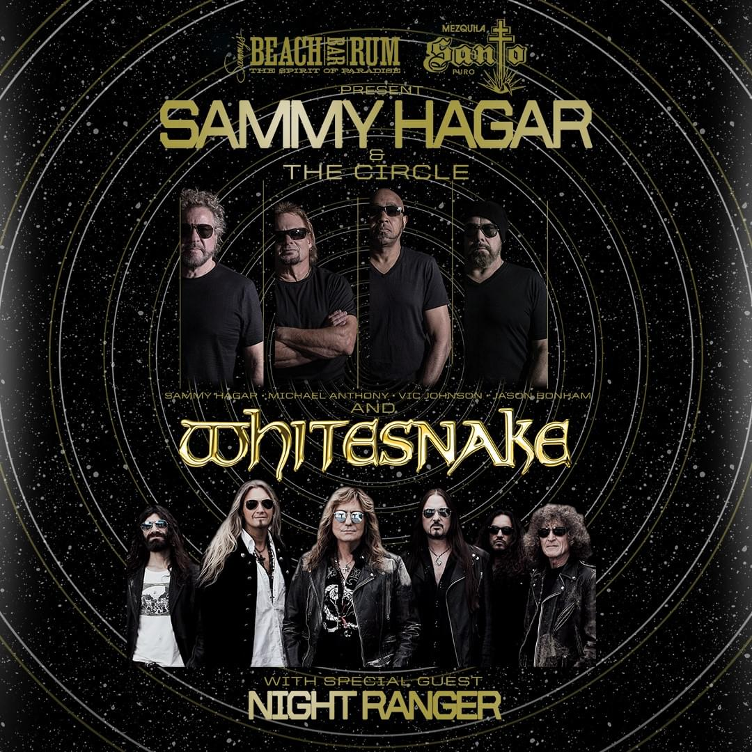 Sammy Hagar & the Circle and Night Ranger @ Coastal Credit Union Music Park, Raleigh – CANCELLED