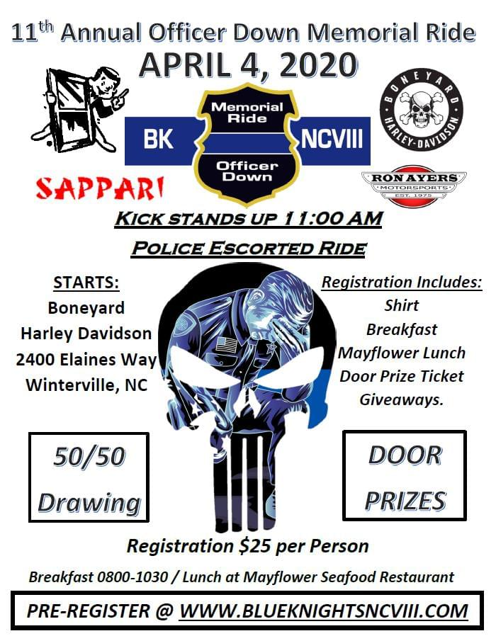 Blue Knights NCVIII Annual Officer Down Memorial Ride