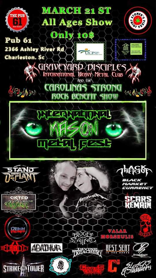 Mason Metalfest @ The Pub On 61, Charleston SC