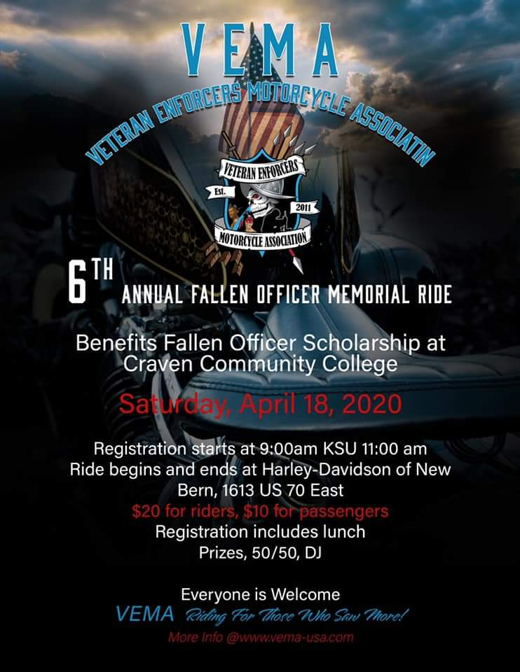 Veteran Enforcers Motorcycle Association​ 6th Annual Fallen Officer Memorial Ride