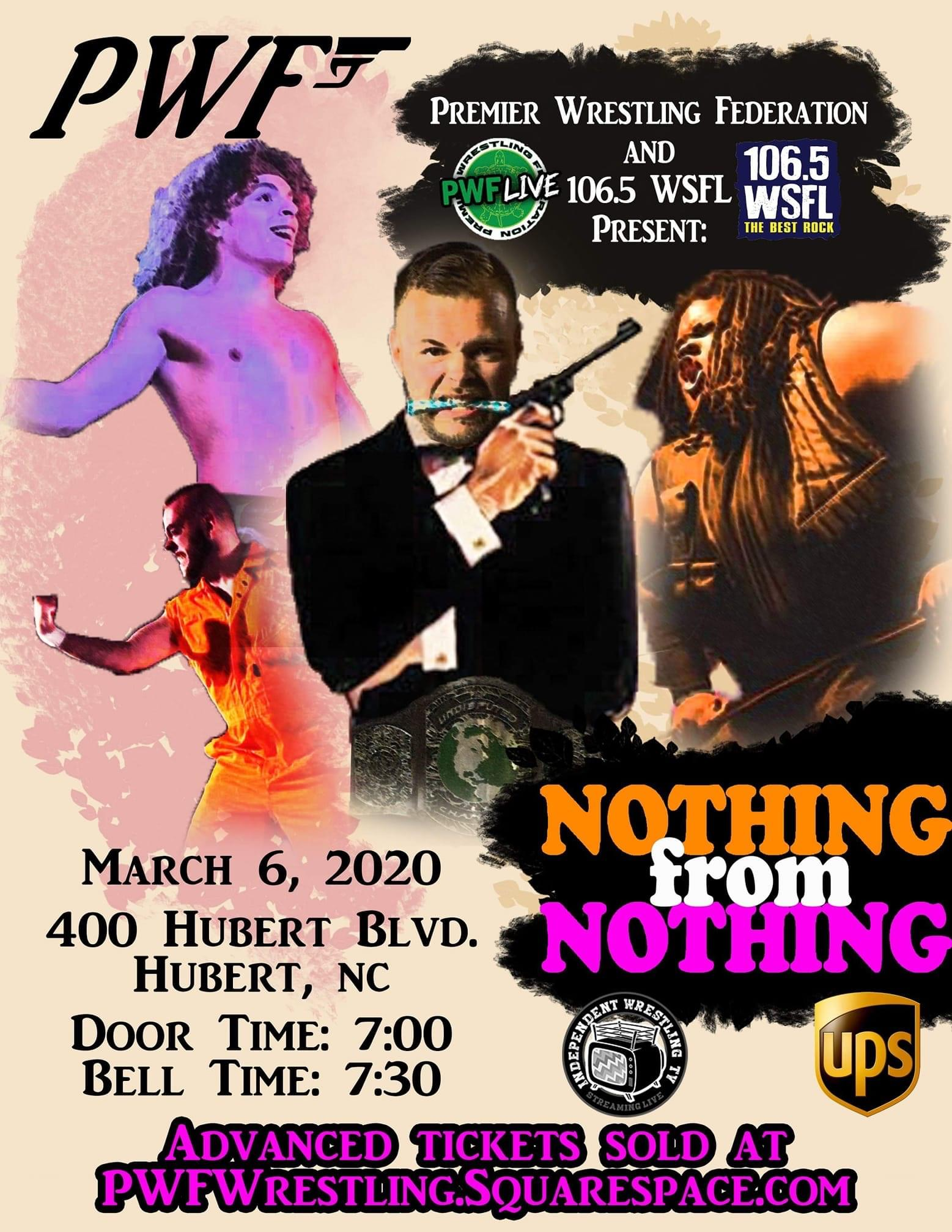 WSFL & Premiere Wrestling Federation Present: Nothing From Nothing