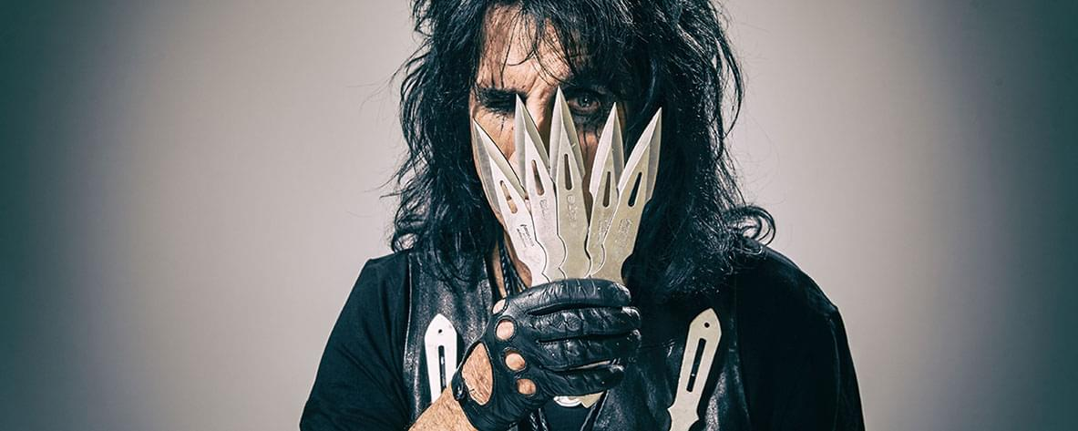 Alice Cooper calls to talk about his 'Don't Give Up' track and his upcoming virtual Rock & Roll Fantasy Camp Masterclass