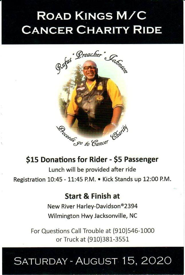 "Rufus ""Preacher"" Johnson Cancer Charity Ride"