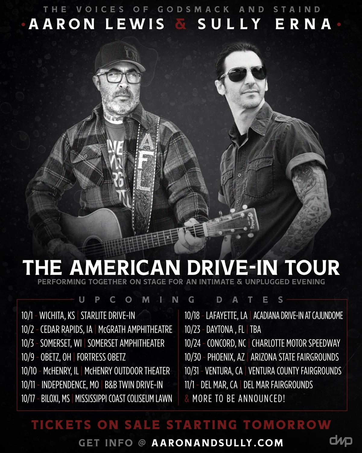 The American Drive-In Tour w/ Aaron Lewis & Sully Erna The Voices of Godsmack & Staind @ Charlotte Motor Speedway