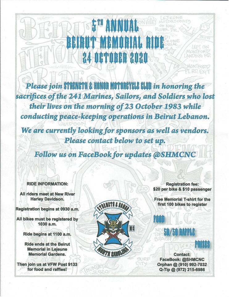 Strength & Honor MC 5th Annual Beirut Memorial Ride