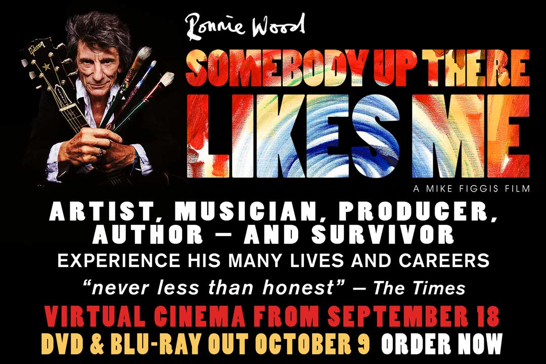 """Win Ronnie Wood """"Somebody Up There Likes Me"""" on DVD"""
