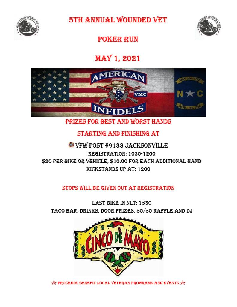 5th Annual Wounded Vet Poker Run