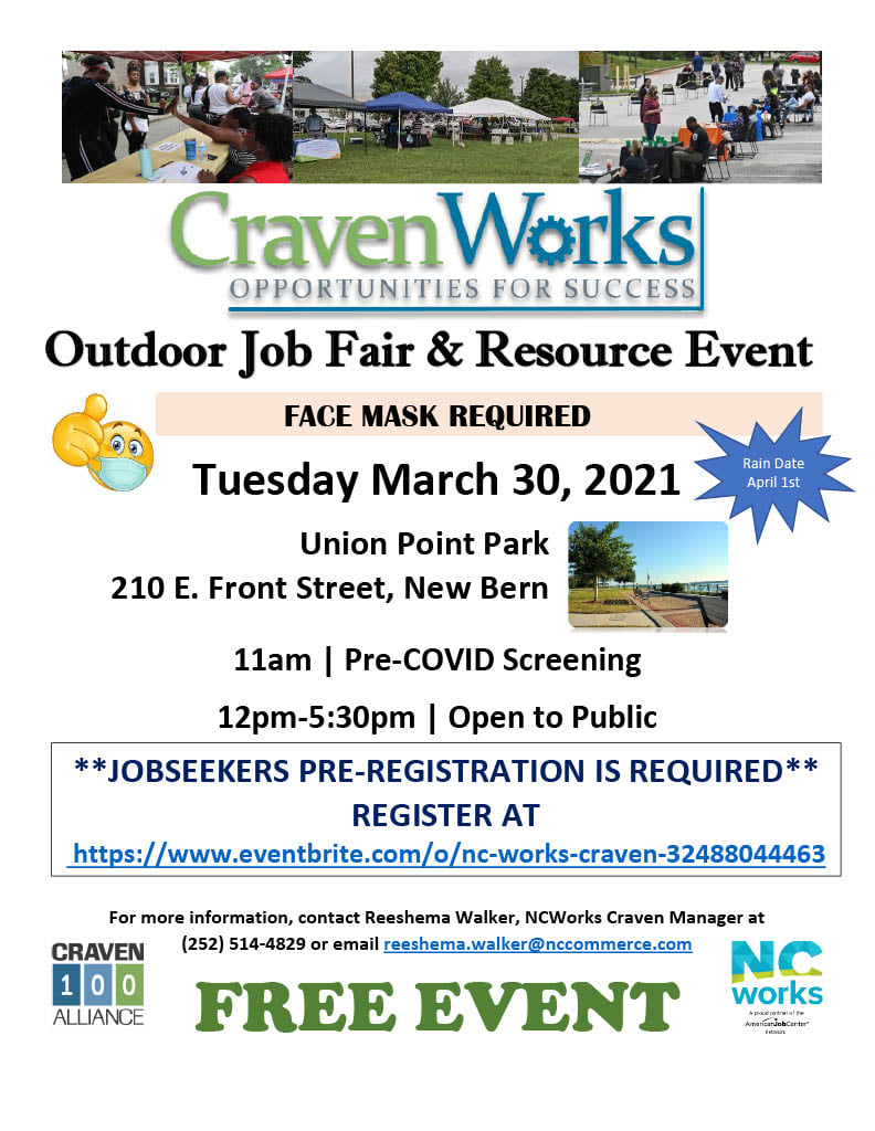 The 6th Annual Craven Works Outdoor Job Fair Is On!