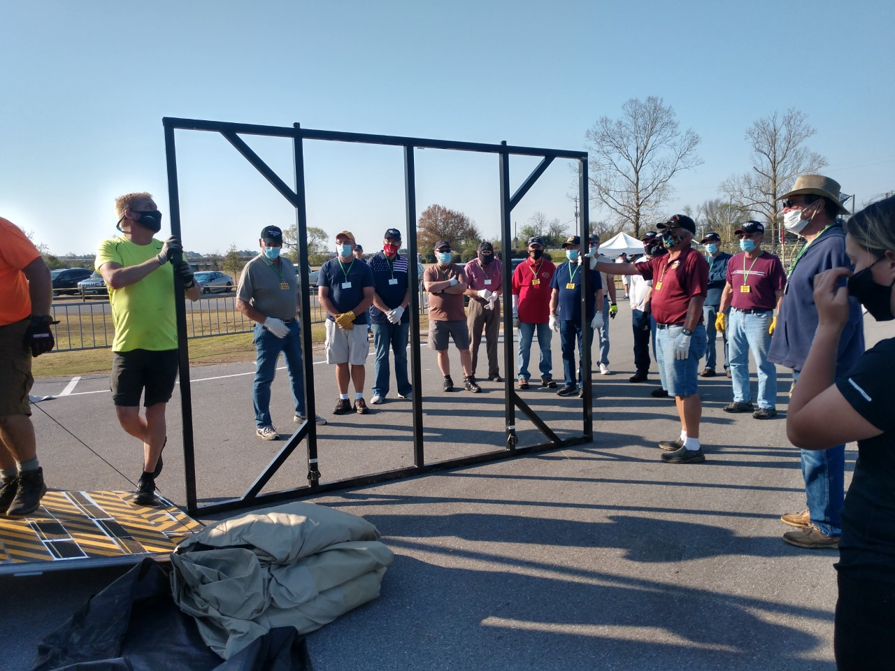 See The Wall That Heals Get Assembled in New Bern