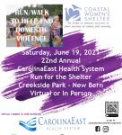 22nd Annual CarolinaEast Health System Run for Shelter 5K 10K & 1 Mile Race/Walk