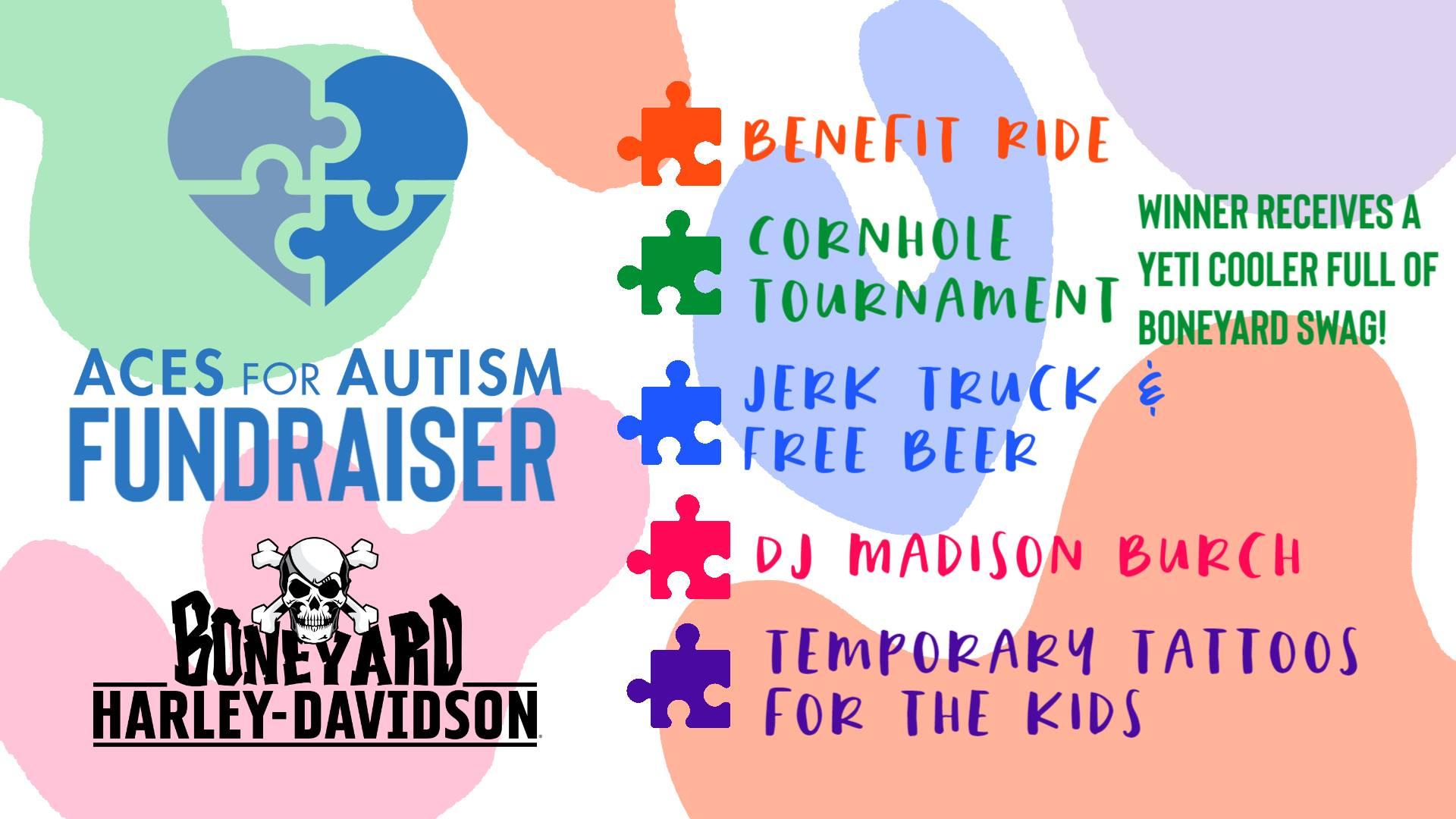 Aces For Autism Benefit Ride @ Boneyard Harley-Davidson, Winterville
