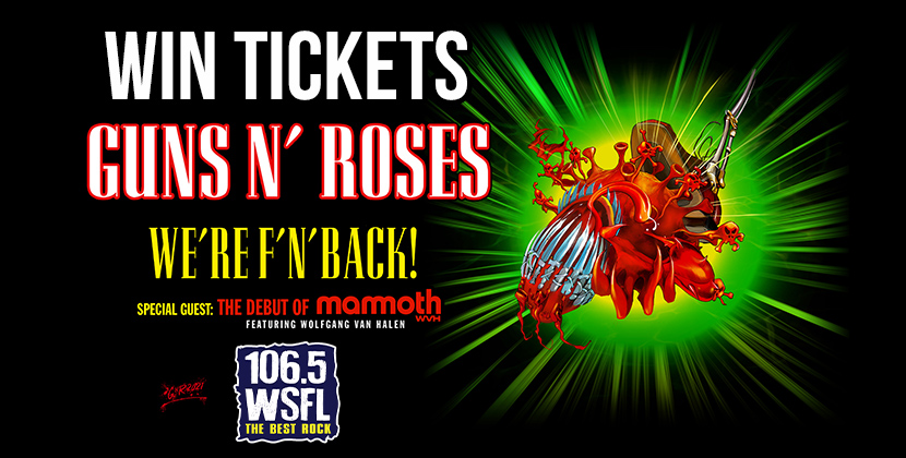 Win Tickets For Guns N' Roses in Raleigh!