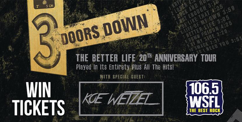 Win 3 Doors Down Tickets