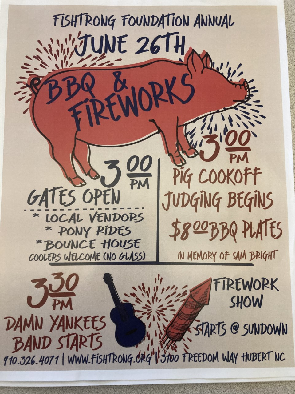 2nd Annual BBQ Cook-Off/Fireworks: Fishstrong Foundation