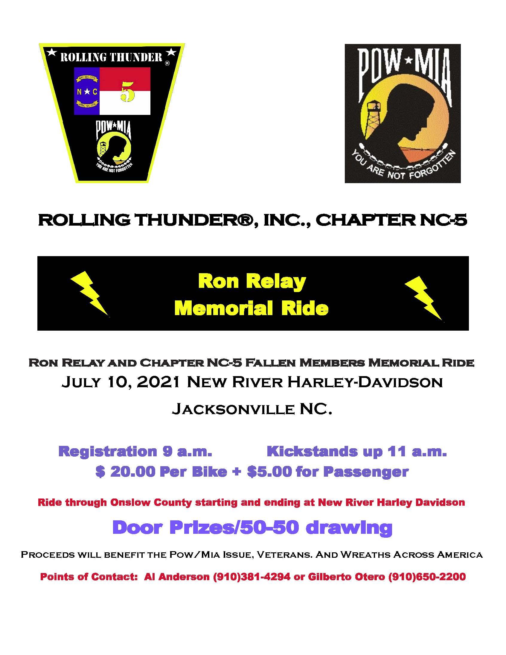 Ron Relay Memorial Ride