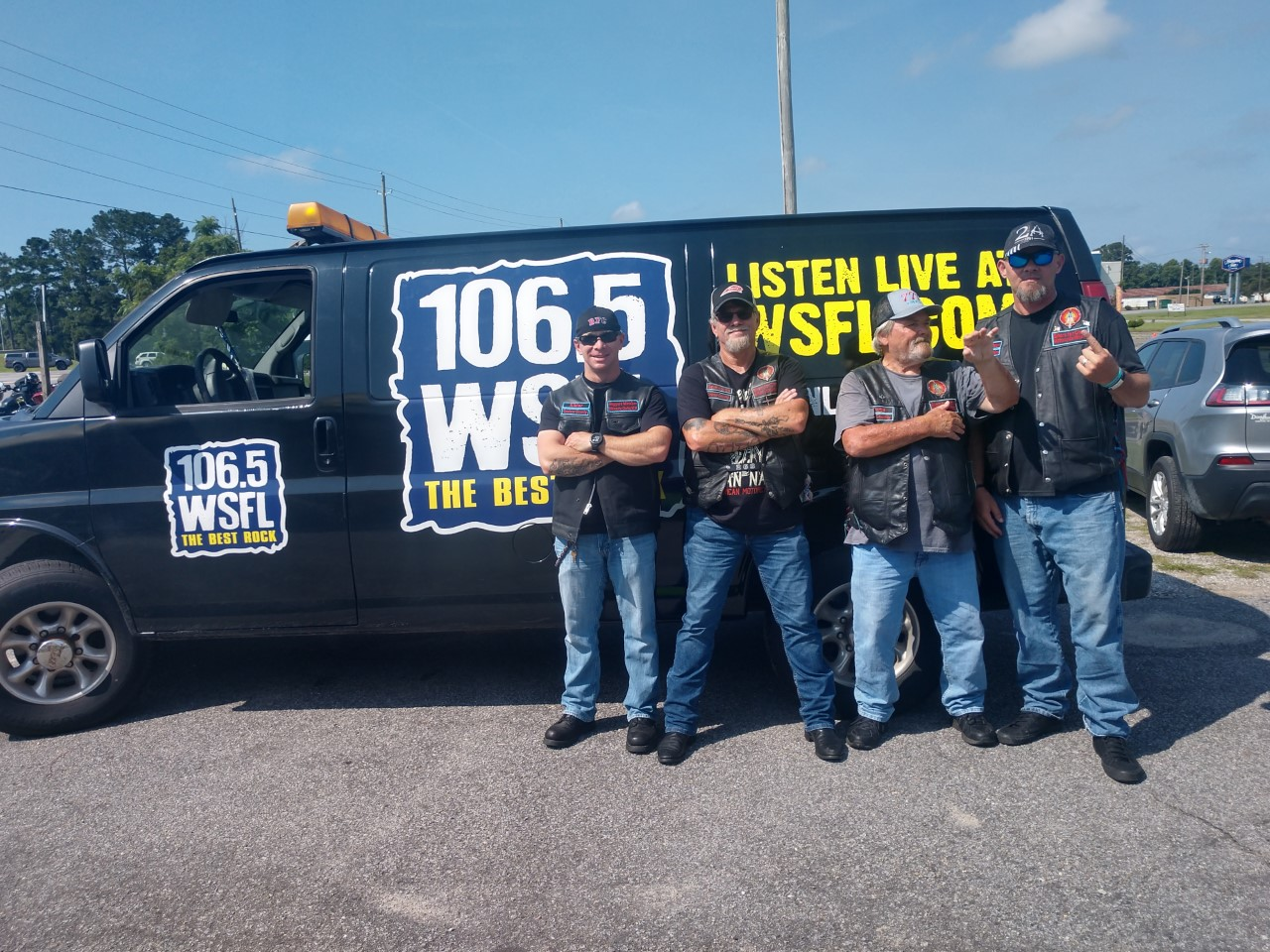 WSFL Hits the Bikers For Christ ALS Ride at Ironclad Marketplace in Kinston
