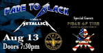 Fade To Black – A Tribute to Metallica w/ Piece of Time (Iron Maiden Tribute) @ The State Theatre, Greenville